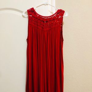 LOFT dress. Deep red